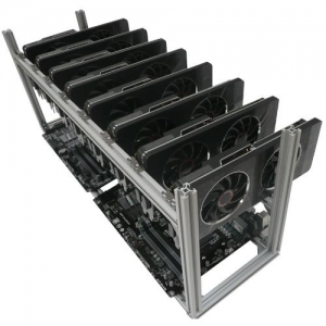 Open frame rig for mining ethereum and zcash