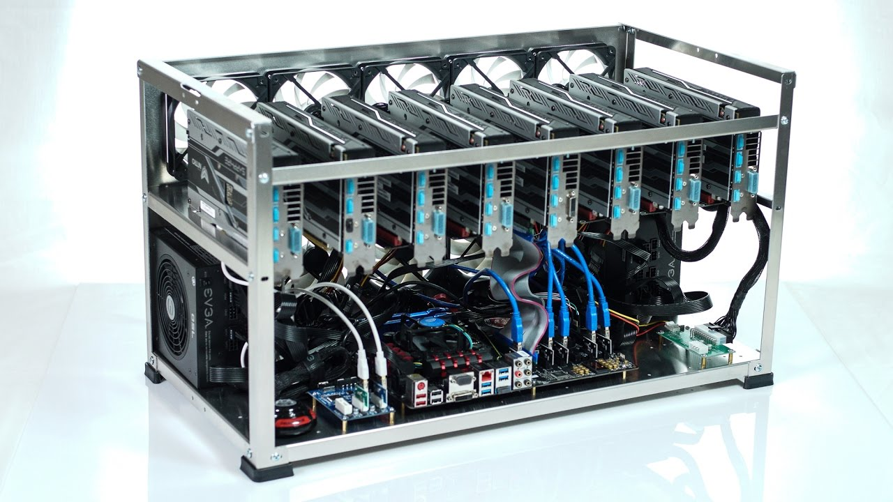 Ethereum and Zcash mining rig